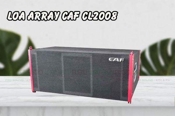 Thiết kế bên ngoài của sản phẩm Loa array CAF CL2008