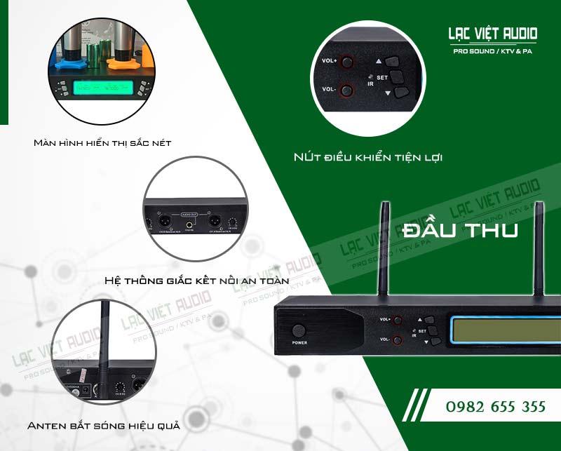 Thiết kế bên ngoài hiện đại và sang trọng của đầu thu micro AAP M6