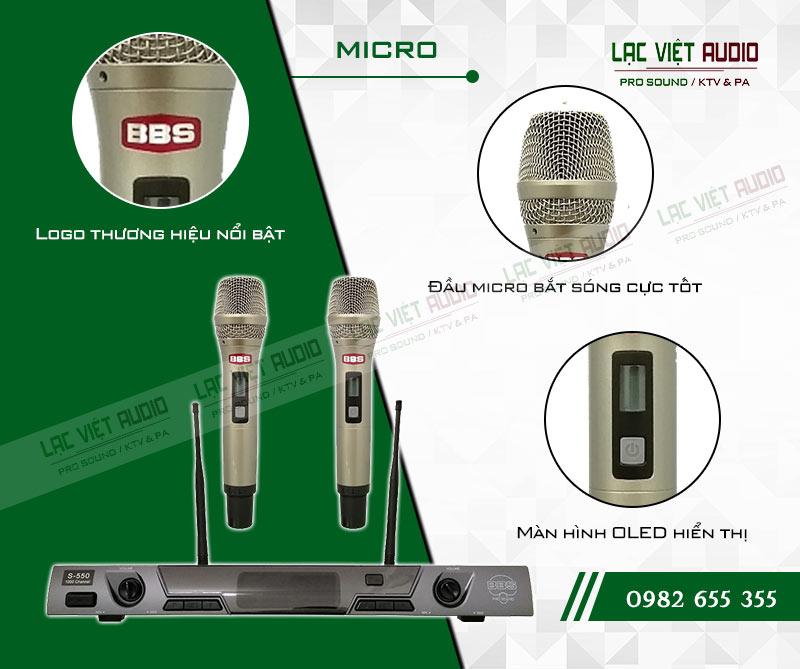 Các tính năng nổi bật của sản phẩm Micro không dây BBS E550GS