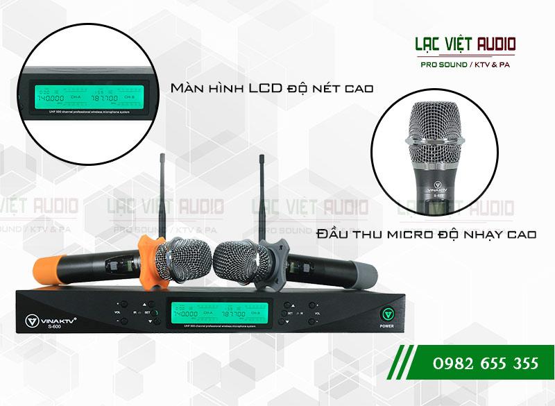 Tính năng của sản phẩm Micro VinaKTV S600