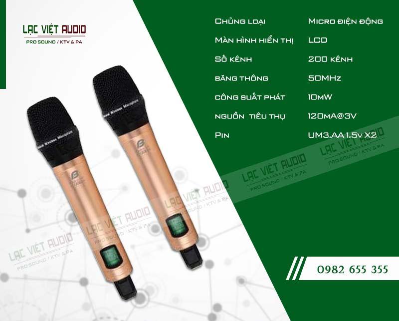 Thông số kỹ thuật của sản phẩm Micro BFaudio K308D+