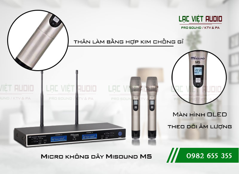 Các tính năng nổi bật của sản phẩm Micro Misound M5