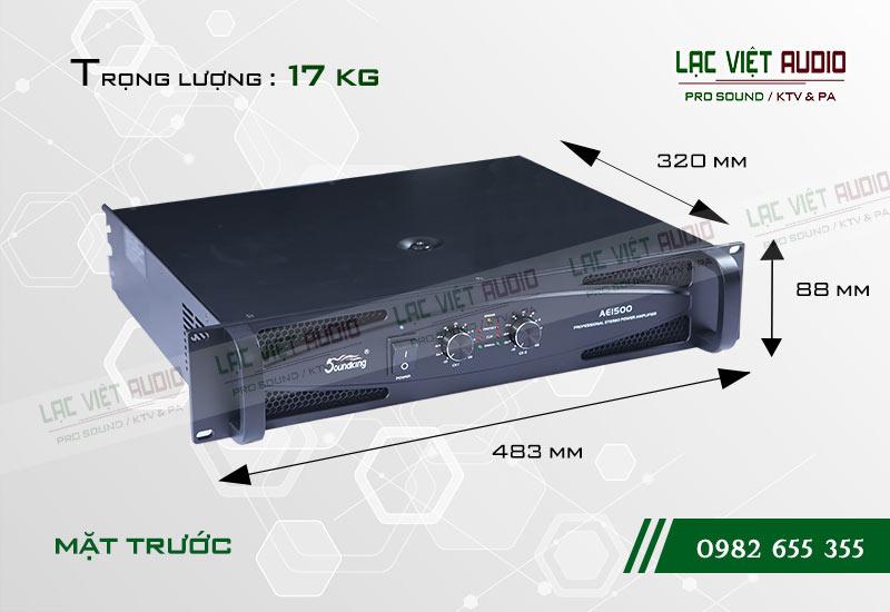 Thiết kế của sản phẩm Cục đẩy Soundking AE1500
