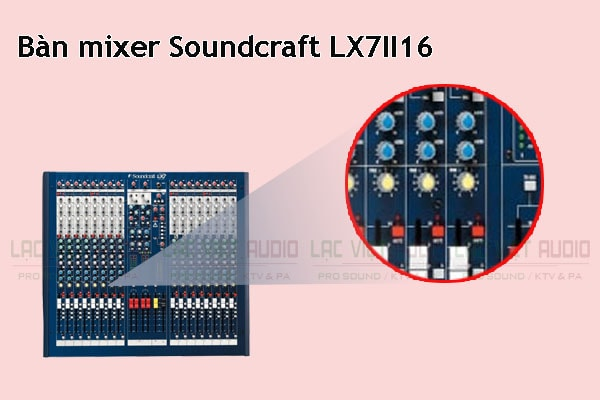 Thiết kế bên ngoài của sản phẩm Bàn mixer Soundcraft LX7II 16
