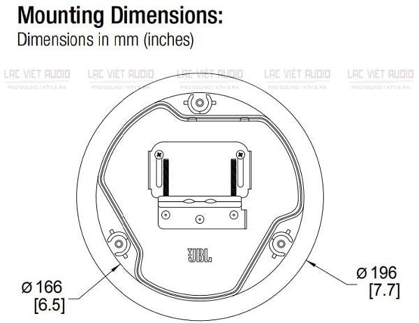 Bản vẽ kỹ thuật loa âm trần JBL Control 14CT