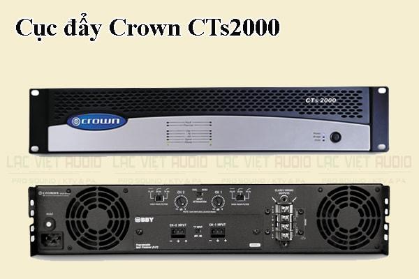 Tính năng của sản phẩm Cục đẩy Crown CTs2000