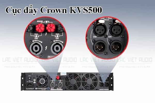 Thiết kế bên ngoài của sản phẩm Cục đẩy Crown KVS500