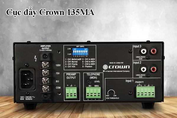 Thiết kế bên ngoài của sản phẩm Cục đẩy Crown 135MA