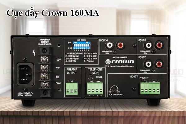 Thiết kế bên ngoài của sản phẩm Cục đẩy Crown 160MA