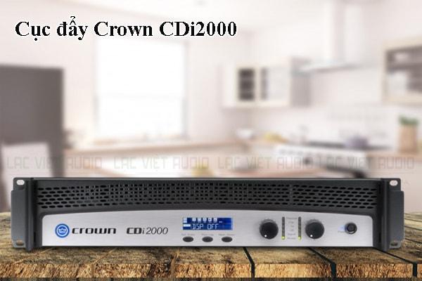 Thiết kế bên ngoài của sản phẩm Cục đẩy Crown CDi2000