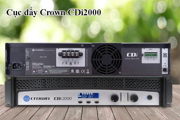 Tính năng của sản phẩm Cục đẩy Crown CDi2000