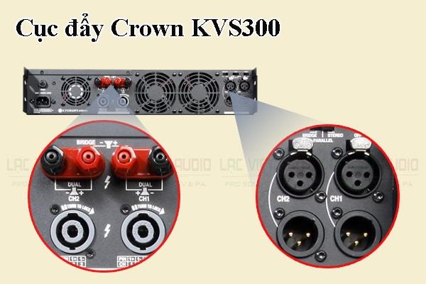 Thiết kế bên ngoài của sản phẩm Cục đẩy Crown KVS300