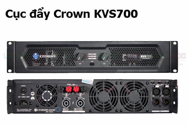 Thiết kế bên ngoài của sản phẩm Cục đẩy Crown KVS700