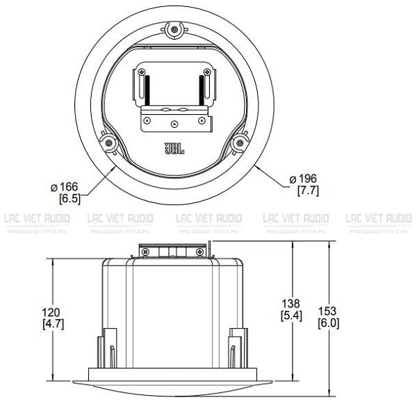 Bản vẽ loa âm trần JBL Control 12CT PDF