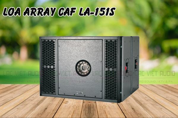 Thiết kế bên ngoài của sản phẩm Loa array CAF LA 151S