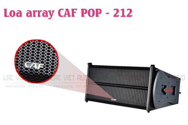 Thiết kế của sản phẩm Loa array CAF POP 212