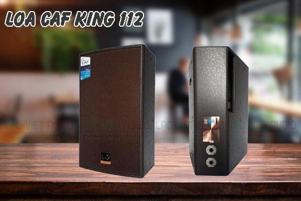 Mặt trước và mặt sau của sản phẩm loa CAF king 112