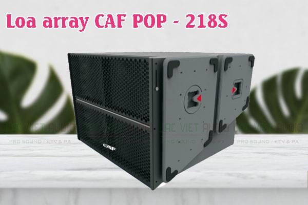 Thiết kế của sản phẩm Loa Array CAF POP 218S