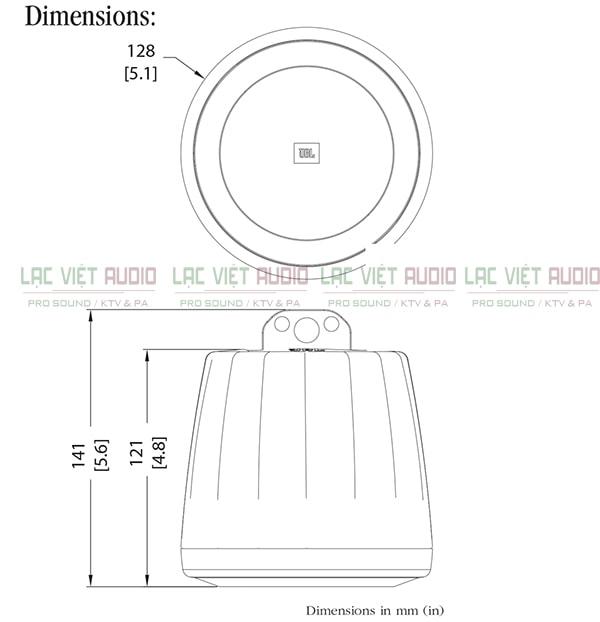 Thiết kế của sản phẩm Loa JBL Control 62P