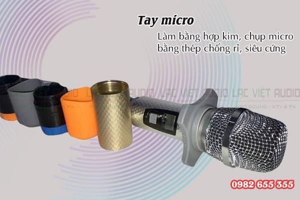 Cấu tạo chi tiết tay cầm micro