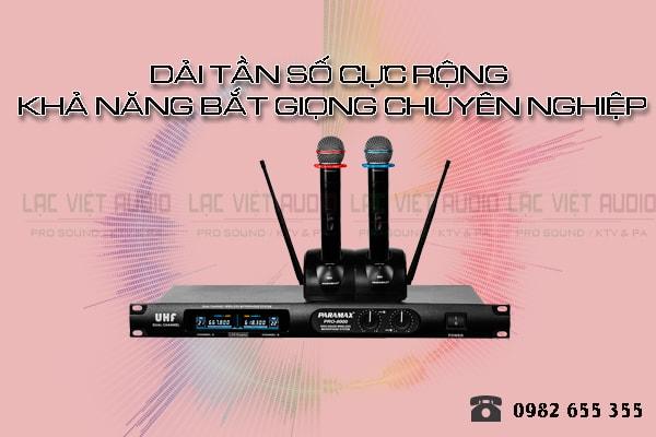 Micro karaoke paramax PRO 8000