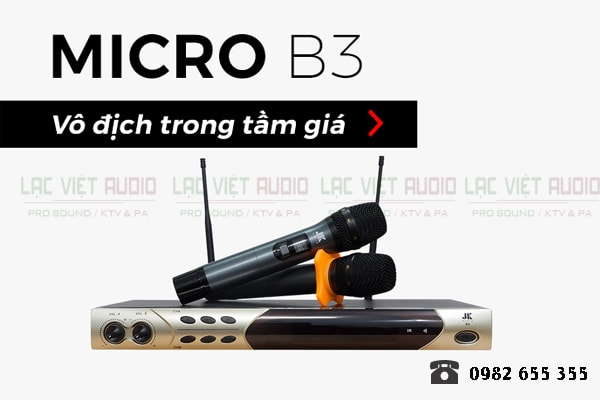 Tính năng của Micro JKaudio B3 - Lạc Việt Audio