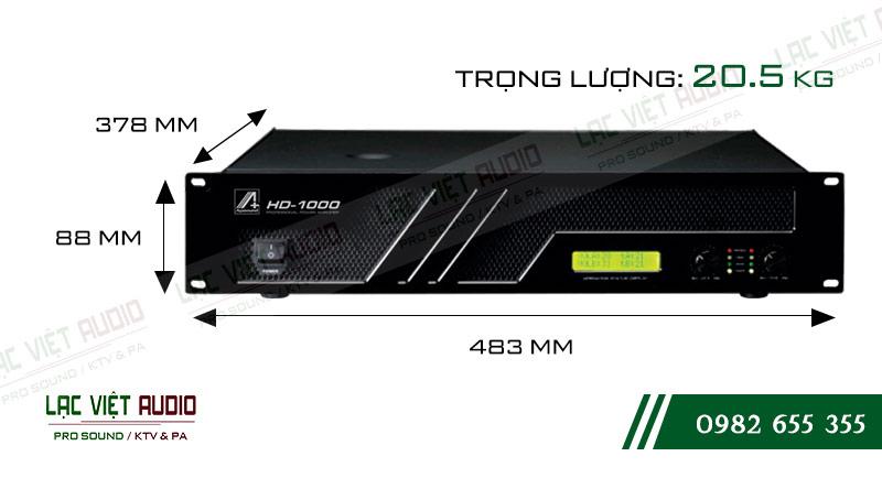 Thiết kế bên ngoài cực hiện đại của thiết bị Cục đẩy công suất Agasound HD 1000