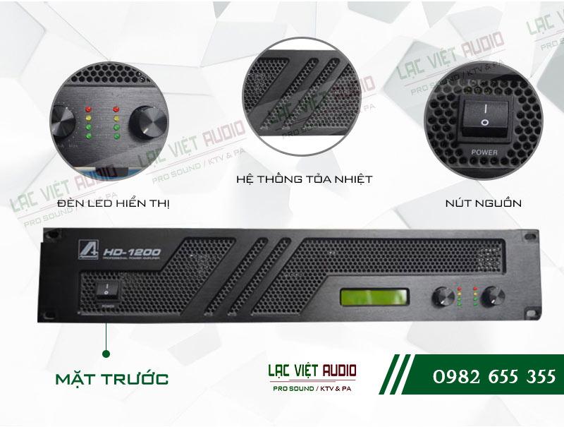 Thiết kế bên ngoài cực hiện đại của thiết bị Cục đẩy công suất Agasound HD 1200