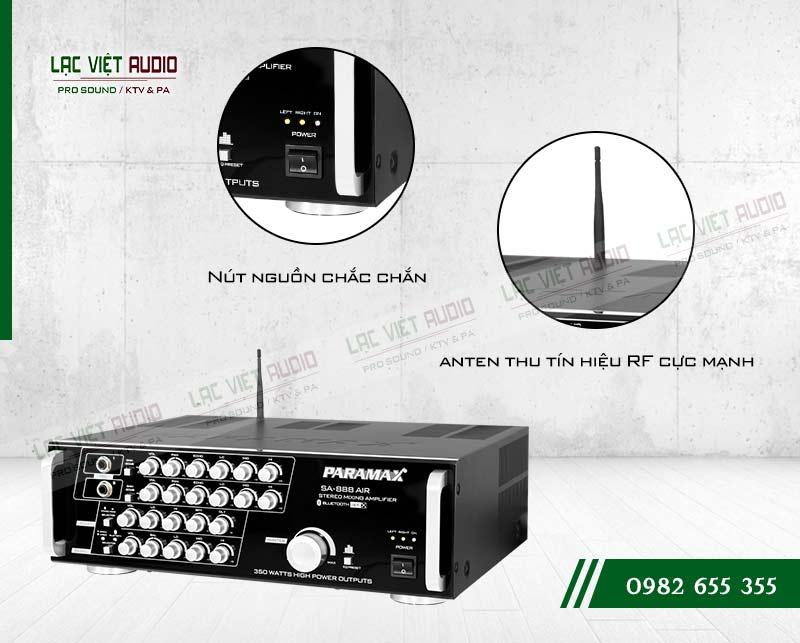 Các tính năng nổi bật của sản phẩm Amply paramax SA 888 AIR NEW
