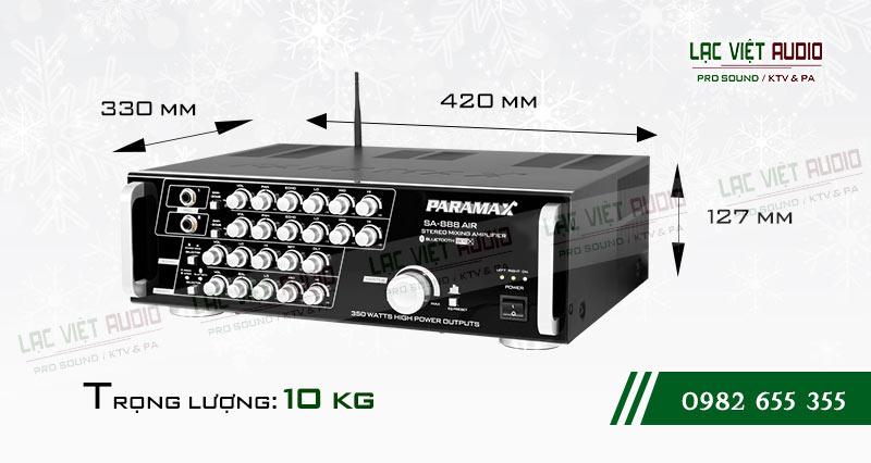 Thiết kế bên ngoài của sản phẩm Amply paramax SA 888 AIR NEW
