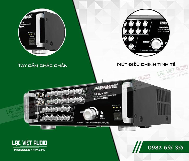 Các tính năng nổi bật của sản phẩm Amply paramax SA 999 AIR NEW