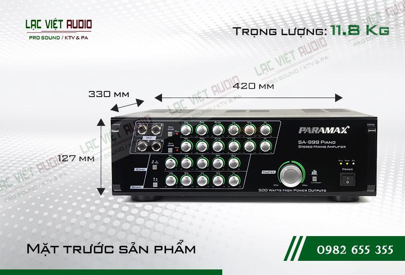 Thiết kế bên ngoài của sản phẩm Amply paramax SA 999 PIANO NEW