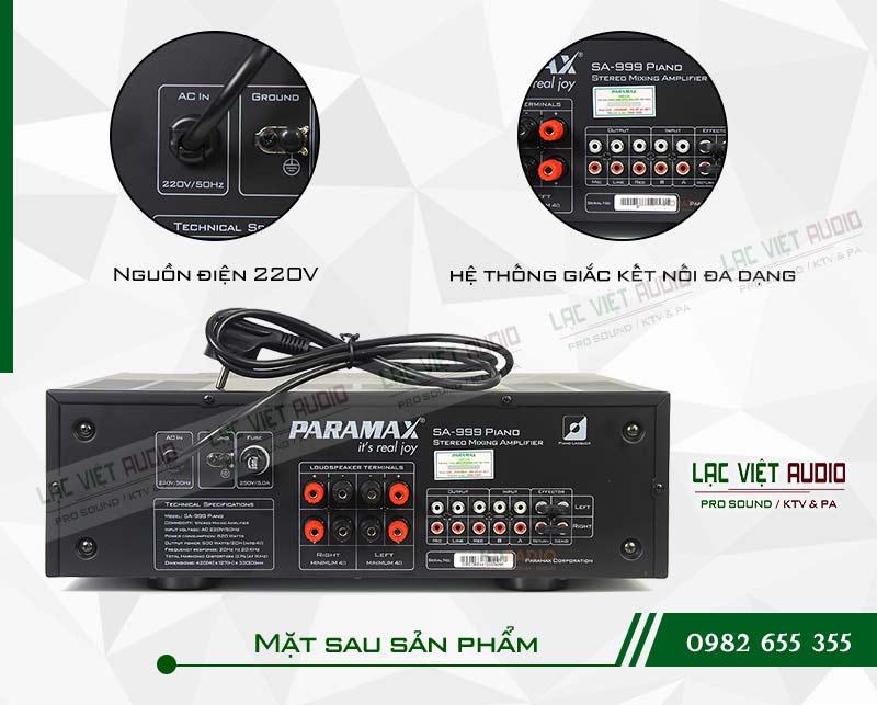 Các tính năng nổi bật của sản phẩm Amply paramax SA 999 PIANO NEW
