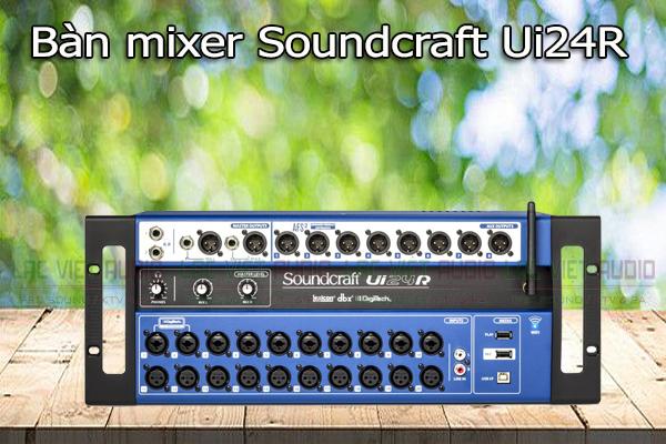 Tính năng của sản phẩm Bàn mixer Soundcraft Ui24r