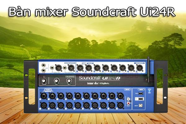 Thiết kế của sản phẩm Bàn mixer Soundcraft Ui24R