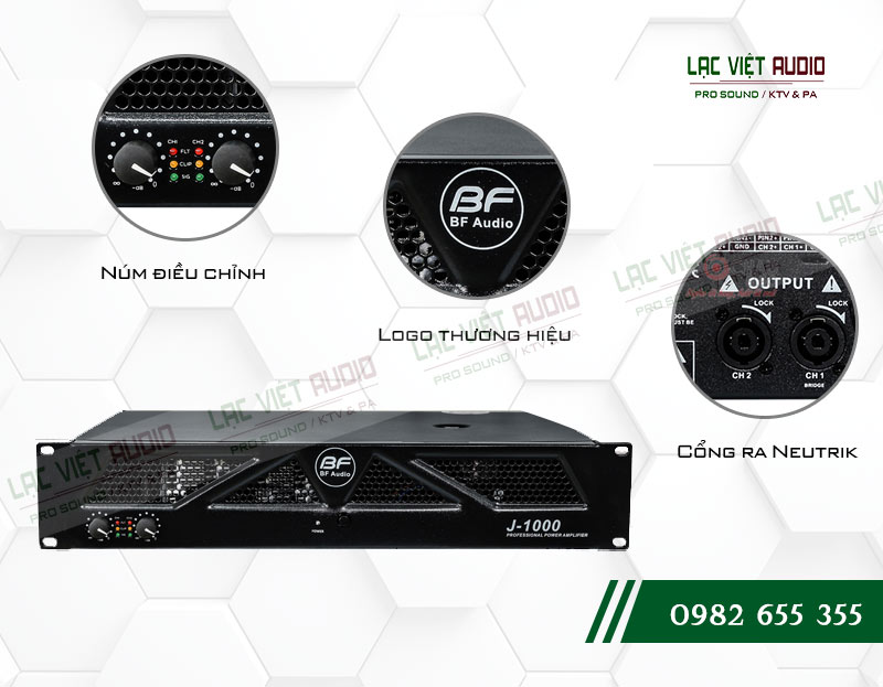 Các tính năng nổi bật của sản phẩm Cục đẩy công suất BF Audio J1000