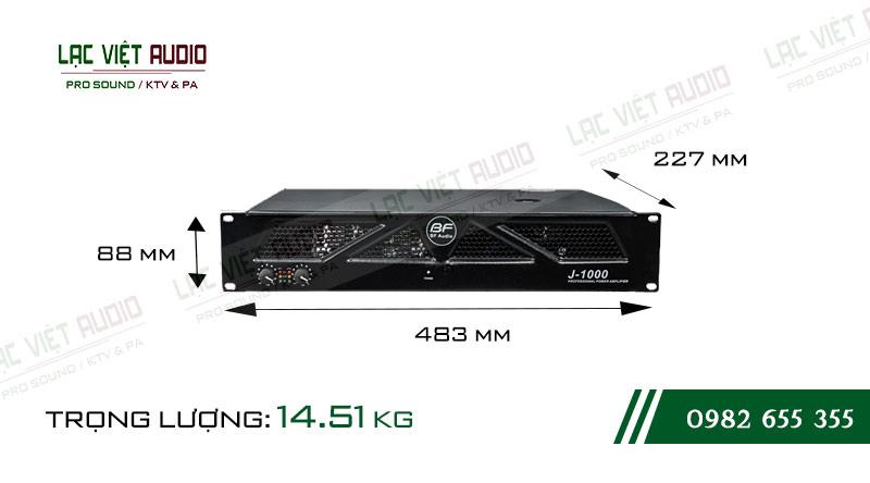 Thiết kế bên ngoài của sản phẩm Cục đẩy công suất BF Audio J1000