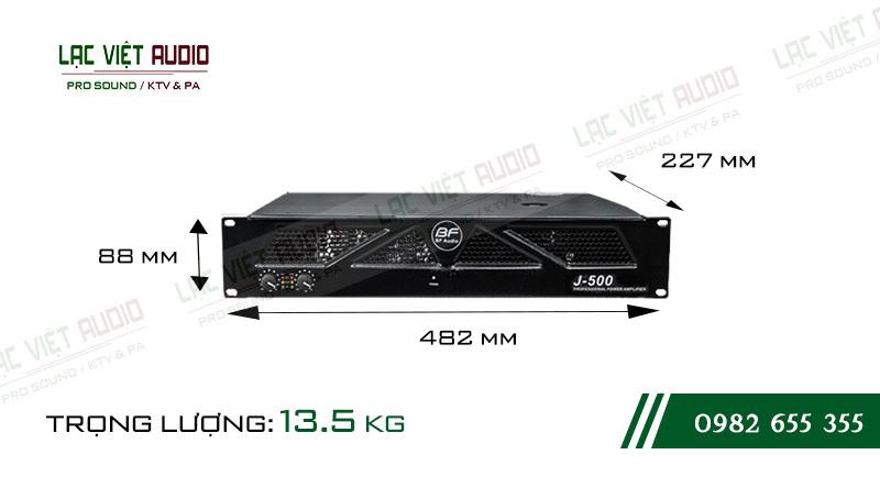 Thiết kế bên ngoài của sản phẩm Cục đẩy công suất BF Audio J500