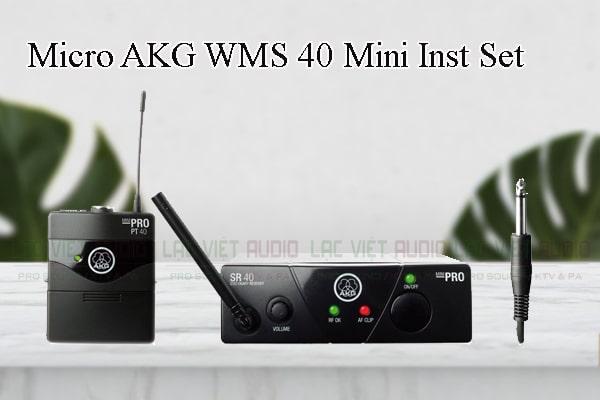Các thiết kế bên ngoài của sản phẩm Micro AKG WMS 40 Mini Inst Set