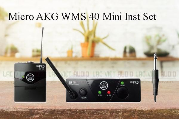Tính năng nổi bật của sản phẩm Micro AKG WMS 40 Mini Inst Set