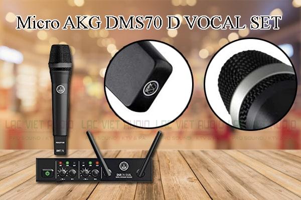 Các thiết kế bên ngoài của sản phẩm Micro AKG DMS70 D VOCAL SET