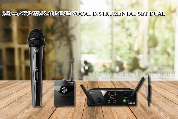 Các thiết kế bên ngoài của sản phẩm Micro AKG WMS 40 MINI2 INSTRUMENTAL SET DUAL