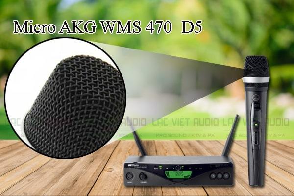 Các thiết kế bên ngoài của sản phẩm Micro AKG WMS 470/D5