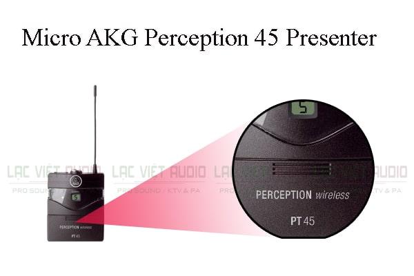 Các thiết kế bên ngoài của sản phẩm Micro AKG Perception 45 Presenter