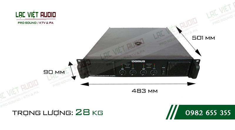 Thiết kế bên ngoài của sản phẩm Cục đẩy công suất Domus DH 460