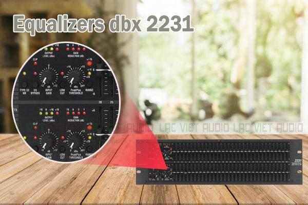 Thiết kế của sản phẩm Equalizers dbx 2231