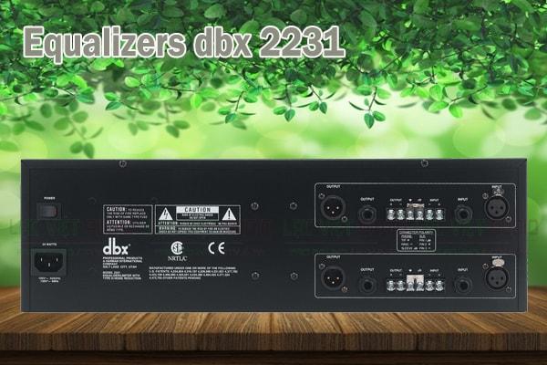 Tính năng của sản phẩm Equalizers dbx 2231