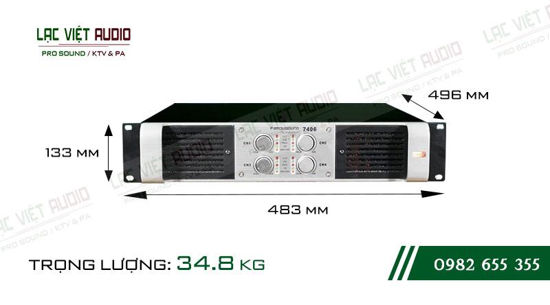 Thiết kế bên ngoài cực hiện đại của thiết bị Cục đẩy công suất Famousound 7213