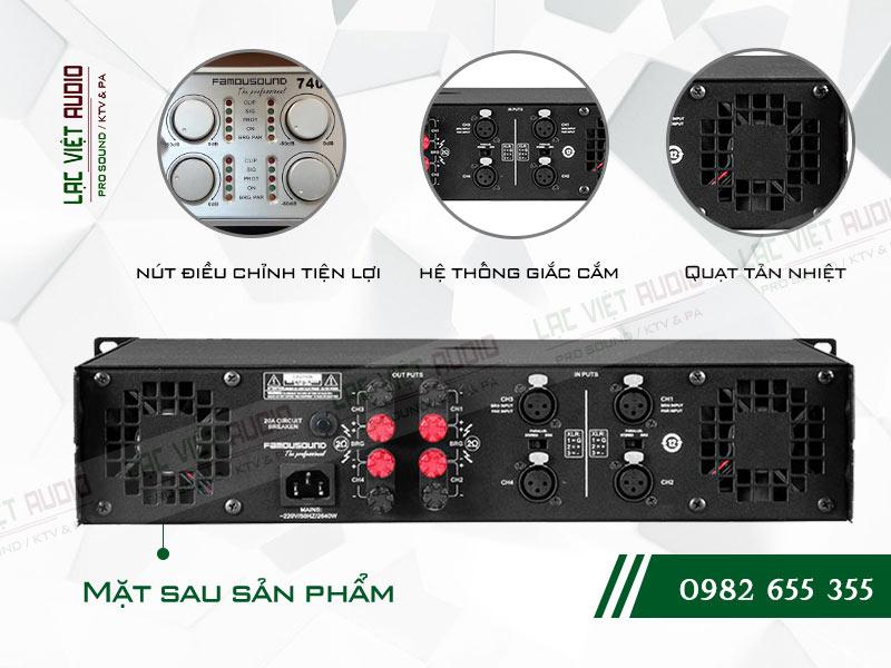 Các tính năng nổi bật và tối ưu nhất của sản phẩm Cục đẩy công suất Famousound 7406