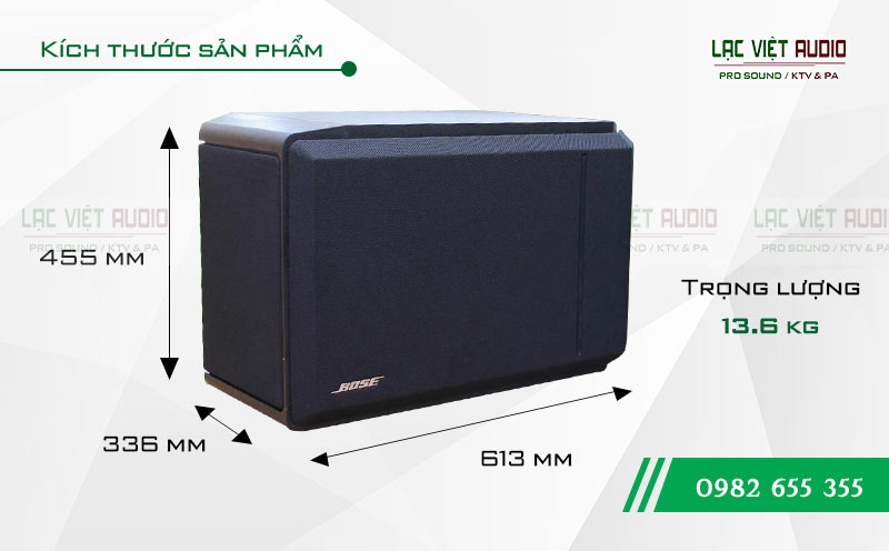 Thiết kế của thiết bị Loa Bose 301 seri IV